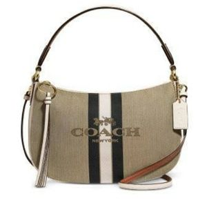 Coach Horse & Carriage Jacquard Sutton Crossbody